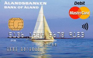 Ålandsbanken - ÅAB-Bankkort-segelbåt-finsk-text
