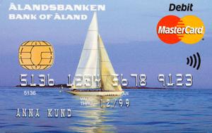 Ålandsbanken - ÅAB-Bankkort-segelbåt-svensk-text