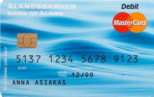 Ålandsbanken - MC-Debit-FI-framsida