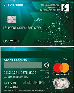 Ålandsbanken - Ostersjoprojektet Credit Debit Card Finland